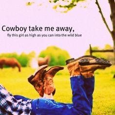 Lyrics Cowboy Take Me Away
