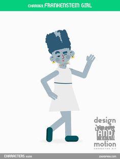 CHAR069_FrankensteinGirl. Part of D&M Character Kit.