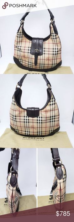 100  Auth Burberry Brooke Hobo Bag Pre-owned. Overall Condition is  Excellent . b708a9975ac08
