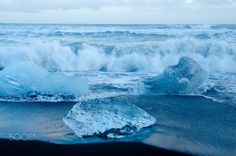 diamond - on the beach in jökulsarlon in the south of iceland you can find wonderful icecubes from the glacierlagoon from the mighty vatnajökull. Iceland, Canning, Diamond, Beach, Outdoor, Ice Land, Outdoors, Seaside, Diamonds