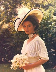 Jane Seymour  -  'Somewhere In Time'  1980.  Why can't our fashion be like this now a days!?!?!?!?!?