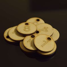Set of 50x3cm Laser Engraved MDF Number Discs, Table, Tags, Locker, Restaurant,Clubs by LaserVinylArts on Etsy