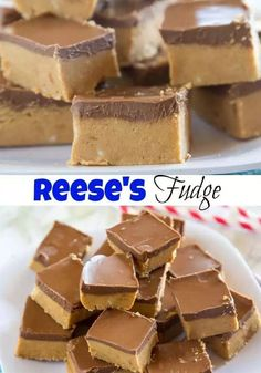 REESE'S FUDGE, Desserts, REESE'S FUDGE - Reese's Fudge - a layer of creamy peanut butter fudge topped with melted chocolate and peanut butter. And easy no bake recipe that is . Desserts Keto, Delicious Desserts, Dessert Recipes, Recipes Dinner, Dinner Dishes, Mini Desserts, No Bake Desert Recipes, Cheesecake Recipes, Easy Bake Desserts