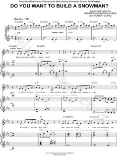 """Do You Want to Build a Snowman?"" from 'Frozen' Sheet Music - Download & Print"