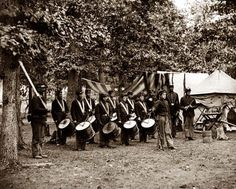 Drummer Boys: Bealeton, Virginia Drum corps, 93d New York Infantry. It was made in 1863 by O'Sullivan, Timothy H., 1840-1882.