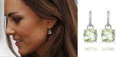 Duchess of Cambridge wears Kiki McDonough green amethyst drop earrings