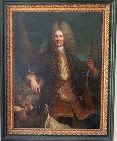 """Attribué à Robert GENCE (actif en France vers 1700-1720) - """"Portrait"""