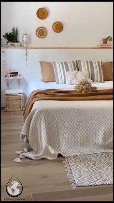 Room Ideas Bedroom, Home Decor Bedroom, Diy Home Decor, Bedroom Designs, Bedroom Bed, Bed Room, Bright Bedroom Ideas, Bedroom Decorating Ideas, Boho Teen Bedroom