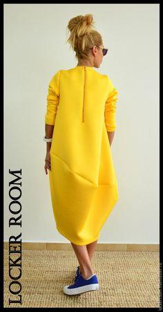 Платье туника ComfortNeo (Yellow) – купить или заказать в интернет-магазине на Ярмарке Мастеров   Яркая и невероятно комфортная туника платье кофта…