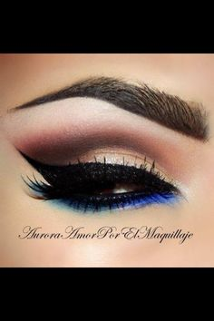 """Sexy eyeshadow. \ Nice - two colors on the lower lash line. Definitely a """"come hither"""" look! ~FC."""