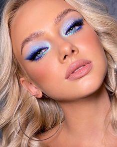 Makeup Eye Looks, Eye Makeup Art, Colorful Eye Makeup, Cute Makeup, Gorgeous Makeup, Pretty Makeup, Skin Makeup, Beauty Makeup, Hair And Makeup