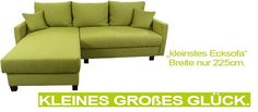 ecksofa klein mit grosser bettfunktion sofas f r kleine r ume. Black Bedroom Furniture Sets. Home Design Ideas