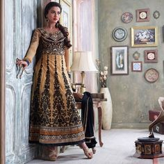 Tan colored anarkali at just 1795/-  #anarkalis #gauharkhan #fashion #indianwear #indiantrend #getitinow #dresses #india #black #beige #georgette #shantoon #chiffon #embroidery #intricate #curated