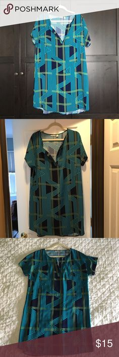 Blue and Green tunic from Nordstroms Great tunic for the summer, colorful and fun! Tops Tunics