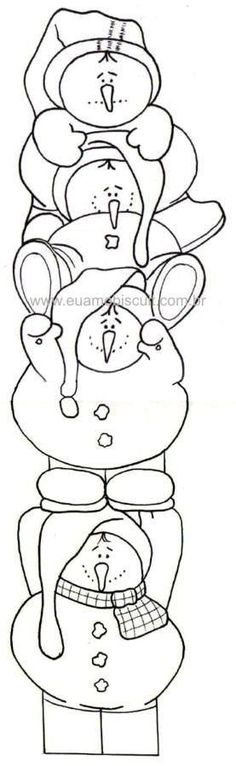 Snowman Tower x Christmas Coloring Pages Christmas Embroidery, Hand Embroidery, Embroidery Designs, Christmas Projects, Holiday Crafts, Colouring Pages, Coloring Books, Christmas Colors, Christmas Decorations