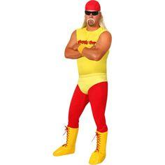 Adult Hulk 80's Wrestler Costume