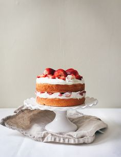 Strawberries + Cream Cake