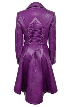 Fitted look. A very good quality jacket which will fit nicely on any Lady. Purple Love, Shades Of Purple, Purple Dress, Purple Things, Purple Leather Jacket, Leather And Lace, Real Leather, Leather Coats, Purple Fashion