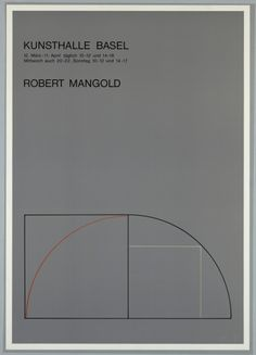 garadinervi: Robert Mangold, Exhibition Poster, Kunsthalle,...