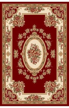Pastoral Medallion Ivory French European Formal Traditional x Area Rug Easy to Clean Stain / Fade Resistant Shed Free Contemporary Floral Thick Soft Plush Living Dining Room Rug Diy Carpet, Rugs On Carpet, Diy Dollhouse, Dollhouse Miniatures, Red Rugs, Carpet Design, Paper Dolls, Tapestry, Decoration
