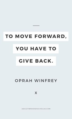 Easy ways to give back to your community + inspirational quotes about giving back including these wise words from Oprah Winfrey for #dogoodweek sponsored by @dogoodlivewell