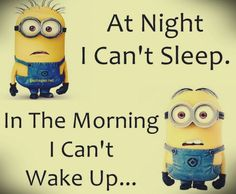 Funny Minion Jokes About Night vs. Morning... - Funny, funny minion quotes, Funny Quote, Jokes, Minion, Morning, Night - Minion-Quotes.com