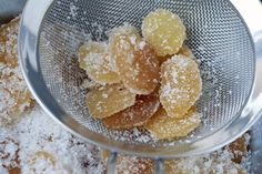 How to Make Candied Ginger | David Lebovitz (Reserve the drained ginger stock & use that to make the sugar syrup.)