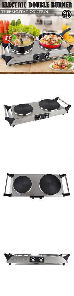 Burners and Hot Plates 177751: 1800W Kitchen Portable Electric Double Burner Cast Iron Countertop Cooktop Stove -> BUY IT NOW ONLY: $48.99 on eBay!