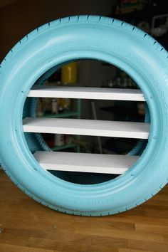 Easy DIY Toy Shelves Using a Tire