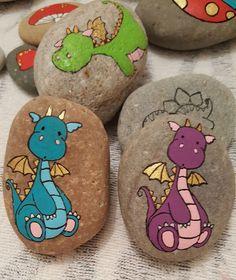 Cartoon Drachen gemalte Felsen – Cartoon dragon painted rocks – The post Cartoon dragons painted rocks – appeared first on Best Pins.