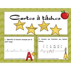 Fractions, percentages and decimal numbers Math 5, Math Fractions, 4th Grade Math, Teaching Tools, Teaching Math, Decimal Number, Writing Anchor Charts, Math Numbers, Cycle 3