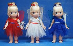 Tinker Bell Boom Red White Blue Disney 2013 Precious Moments 3 Doll Set Signed #PreciousMoments #IndependenceDayFourthofJuly2013 #Dolls