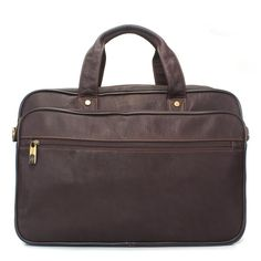 Buy online #BRUNE BROWN LEATHER #OFFICE BAG @ voganow.com for Rs.9,999/-