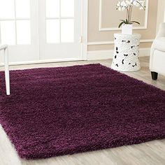 Purple Polypropylene California Cozy 4 x 6 Rectangle Rug with Shag Pattern and Casual Style Includes Cross Scented Candle Tart *** Click image to review more details. Note: It's an affiliate link to Amazon
