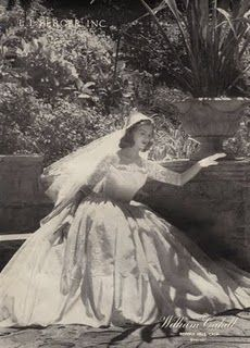 Vintage Wedding Dress...and when women were modest and wanted to look like a princess!