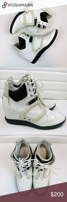 06b19a0af Adidas Yohji Yamamoto Wedge Sneaker Adidas Yohji Yamamoto Wedge Sneaker -  Size US 8 White leather with black suede lace up new without tags - no box  ...