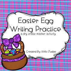 Simply print, laminate, and cut these cards out. You can choose between the full color eggs or the blackline eggs. Print blackline eggs on colored paper or on plain white. Once you have cut the eggs apart, have the students trace the letters with a dry-erase marker.