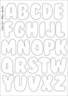 Molde das letras do alfabeto para peças em feltro (maiúsculas):