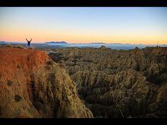 En drone sobre las Badlands de Guadix, Granada