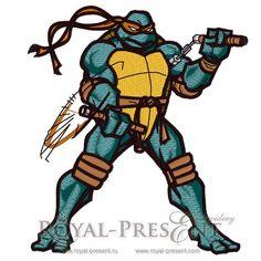 Machine Embroidery Design - Leonardo (Teenage Mutant Ninja Turtles)