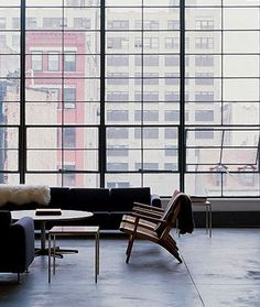 Floor to ceiling windows are my weakness. Love the minimal design here.