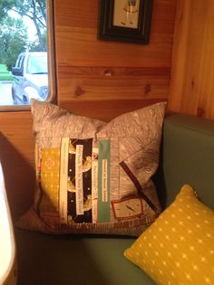 Custom pillow with pictures of my books