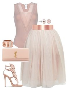 """""""Masterpiece"""" by fashionkill21 ❤ liked on Polyvore featuring Wolford, Rare London, Roksanda, Yves Saint Laurent, Hermès and H.AZEEM"""
