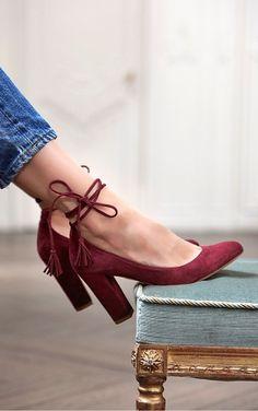 7ce5ce180ac173 Sézane Converse Bordeaux Femme, Belle Chaussure, Escarpin Talon, Chaussure  Femme Printemps, Chaussure