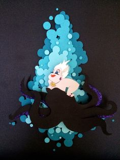 Pop Cutouts Megan Hughes Papercraft Art Ursula, The Little Mermaid 3d Paper Art, Paper Artwork, Paper Crafts, Paper Cutting, Cut Paper, Cut Out Art, Art Cut, Kirigami, Folded Book Art