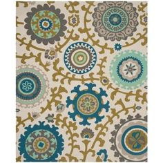 Safavieh Cedar Brook Ivory / Light Blue 5 ft. x 8 ft. Area Rug - CDR144B-5 - The Home Depot