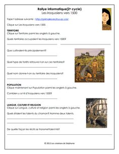 Rallye_Iroquoiens_1500.pdf School Subjects, First Nations, Social Studies, Study, Teaching, Education, Grade 3, Teacher Stuff, Classroom