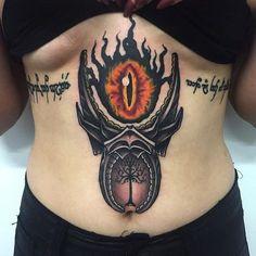 Thanks for this super fun LOTR tattoo Georgie! - Top 500 Best Tattoo Ideas And Designs For Men and Women Gandalf Tattoo, Hobbit Tattoo, Lotr Tattoo, Epic Tattoo, Star Wars Tattoo, Ring Tattoos, Sexy Tattoos, Body Art Tattoos, Tattos