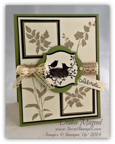 "By Debbie Mageed, featuring Stampin' Up! stamp sets ""World of Dreams"" and ""Good Greetings"" ..."