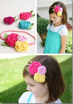 Hundreds of tutorials for making hair bands, bows, headbands etc for little girls. Super cute stuff!